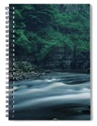 Scenic View Of Waterfall, Teesdale Spiral Notebook