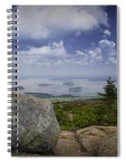 Scenic View With Boulder On Top Of Cadilac Mountain Spiral Notebook