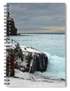 Scenic Winter Lighthouse Spiral Notebook