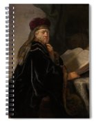 Scholar At His Study Spiral Notebook