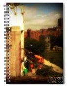 School Bus - New York City Street Scene Spiral Notebook