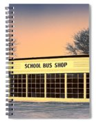 School Bus Repair Shop Spiral Notebook
