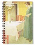 School Household, Dining Room Scene Spiral Notebook