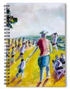 School's Out On The Beach Spiral Notebook