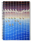 Schooner Race Horse Clouds Spiral Notebook