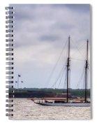 Schooner Sailing Past Fort Sumter Spiral Notebook