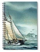 Schooner Voyager Spiral Notebook
