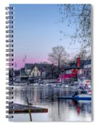 Schuylkill River And Boathouse Row Philadelphia Spiral Notebook