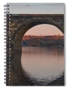 Schuylkill River Railroad Bridge In Autumn Spiral Notebook