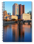 Scioto River And Columbus Ohio Skyline Spiral Notebook