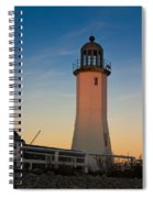 Scituate Lighthouse In Oct Spiral Notebook