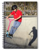 Scooter Flying Spiral Notebook