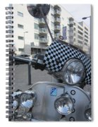 Scooter In The Spotlight Spiral Notebook