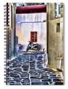 Scooter Mykonos Greece Spiral Notebook