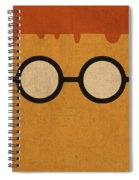 Scooter Vintage Minimalistic Illustration On Worn Distressed Canvas Series No 009 Spiral Notebook