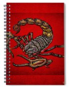 Scorpion On Red Spiral Notebook