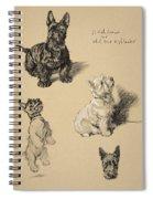 Scotch Terrier And White Westie Spiral Notebook
