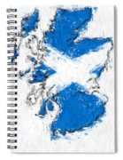 Scotland Painted Flag Map Spiral Notebook