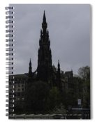 Scott Monument Next To Waverley Train Station And With Sightseeing Buses Spiral Notebook