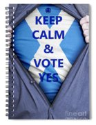 Scottish Businessman Votes Yes Spiral Notebook
