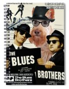 Scottish Terrier Art Canvas Print - The Blues Brothers Movie Poster Spiral Notebook