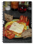 Scrambled Eggs Salami And Cheese For Breakfast. Travelling Baby Pandas Series. Spiral Notebook