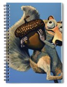 Scrat Of Ice Age Spiral Notebook