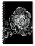 Scratched Rose Spiral Notebook