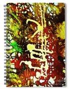 Scrawled Spiral Notebook