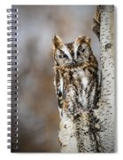 Screech Owl Checking You Out Spiral Notebook