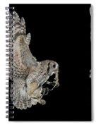 Screech Owl Feeding Owlets Spiral Notebook