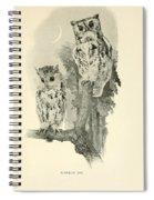 Screech Owls Spiral Notebook