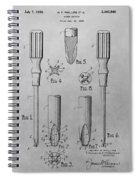 Screwdriver Patent Drawing Spiral Notebook