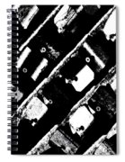 Screwed Metal Tab Abstract Spiral Notebook
