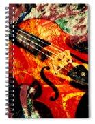 Scribbled Fiddle Spiral Notebook