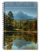 Scripture And Picture Psalm 23 Spiral Notebook