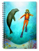 Scuba Diver One Spiral Notebook