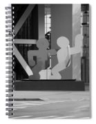 Sculpture On State Street In Black And White  Spiral Notebook