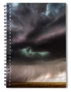 Sculpture - Turquoise Colored Storm Over Kansas Plains Spiral Notebook