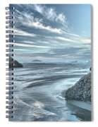 Sculptures On The Shore Spiral Notebook