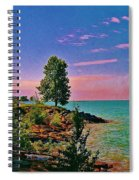 Sea And Tree Spiral Notebook