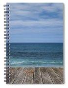 Sea And Wooden Platform Spiral Notebook