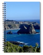 Sea Coast Of Northern California Spiral Notebook