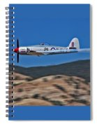 Sea Fury Fly-by Spiral Notebook