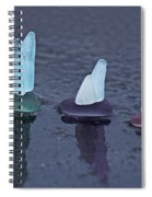 Sea Glass Flotilla Spiral Notebook