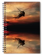 Sea King Sunset  Spiral Notebook