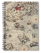 Sea Map By Olaus Magnus Spiral Notebook