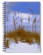Sea Oats Agaist A Blue Sky Spiral Notebook