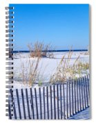 Sea Oats And Fence Along White Sand Spiral Notebook