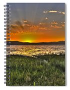 Sea Of Galilee Sunset Spiral Notebook